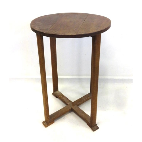 26 - Circular Side Table on flat section supports...