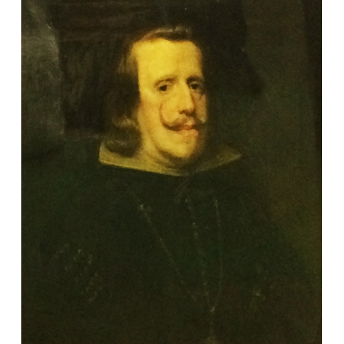 186 - Late C19th F/g Oil on Canvas Portrait Spanish King Phillip IV after Velasquez, believed to be painte...