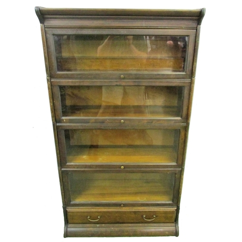 25 - Grand Rapids Michigan Lawyers Bookcase (Globe Wernicke style) lower section with long drawer & 4 gra...