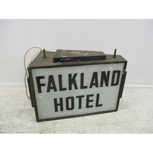 3 - Wall Hanging Illuminated Sign 'Falkland Hotel'...