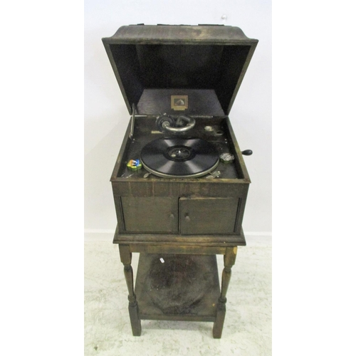 14 - HMV Floor Standing Gramophone No. 103, retailer Willis & Sons Uxbridge...