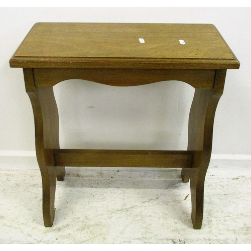 16 - Narrow Oak Reading/Kneeling Stool...