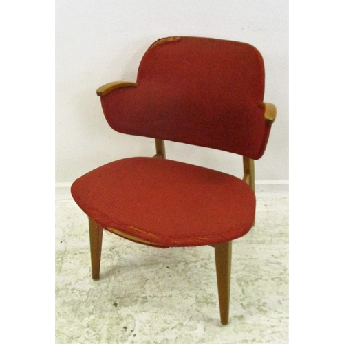 7 - Retro Desk Chair with scoop shaped seat, U-shaped back, offset legs...
