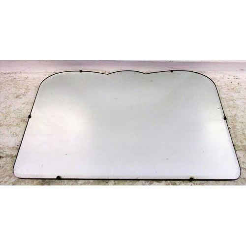10A - Serpentine Topped Bevel Glass Unframed Wall Mirror...