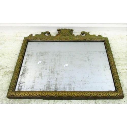 13A - Gilt Framed Rectangular Antique Wall Mirror...