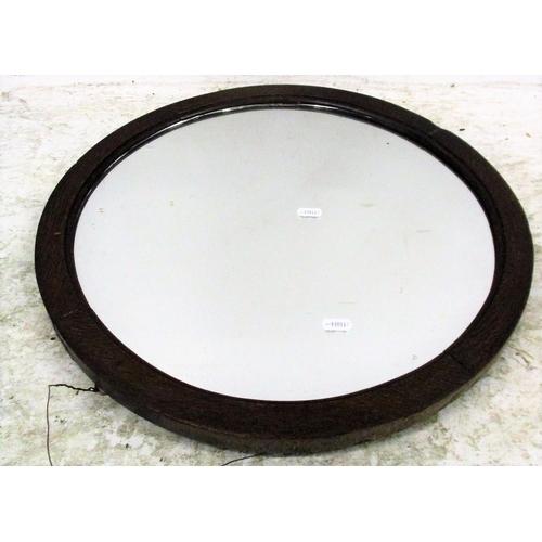 17A - Circular Oak Framed Wall Mirror...
