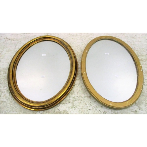 19A - Oval Gilt Framed Wall Mirror (2)...
