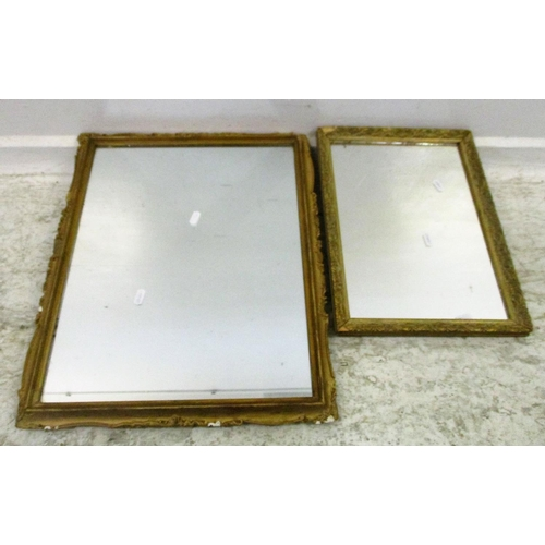 6A - 2 Gilt Framed Small Rectangular Hall Mirror (2)...