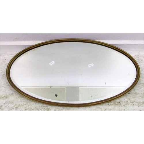 8A - Oval Bevel Glass Hall Mirror...