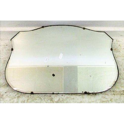9A - Cartouche Shaped Bevel Glass Unframed Wall Mirror...
