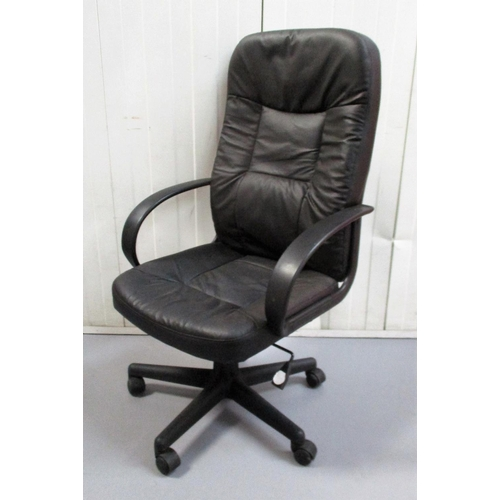 11 - Executive Style Black Leather? Office Chair...