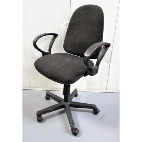 12 - Upholstered Office Chair on 5 spoke base...