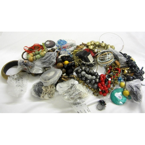 405 - Beaded Costume Jewellery Necklaces, Bangles, rings etc....