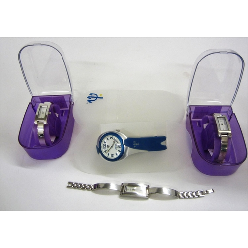 431 - Boxed Club Med Water Resistant 50M Watch & 3 Boots Chrome Watches (2 boxed)...