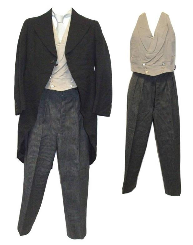 Mens Morning Suit Trousers Approx 32 Waist Austin Reed Waistcoat Tie Tail Coat Approx 34 C
