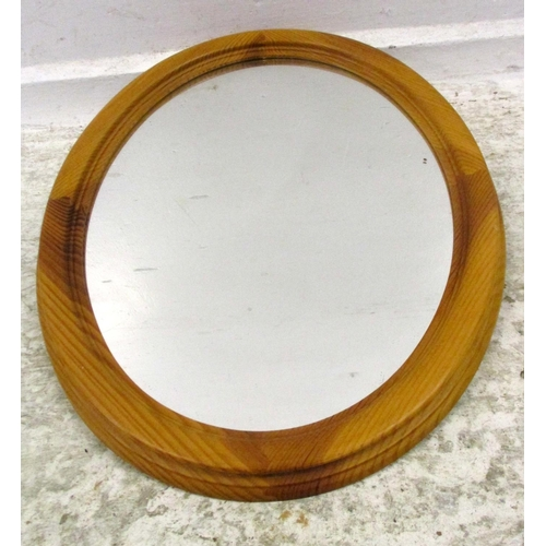 13A - Small Oval Pine Framed Wall Mirror...