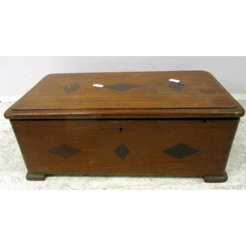 30A - Wooden Sewing Box with internal tray with some contents incl. patterns, needles etc....