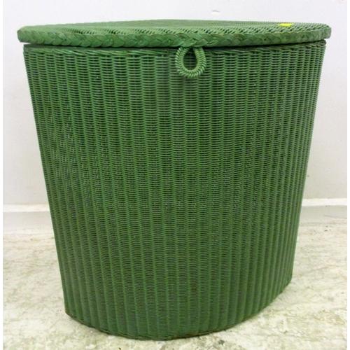 5A - Lloyd Loom Lusty Green Painted Corner Basket...