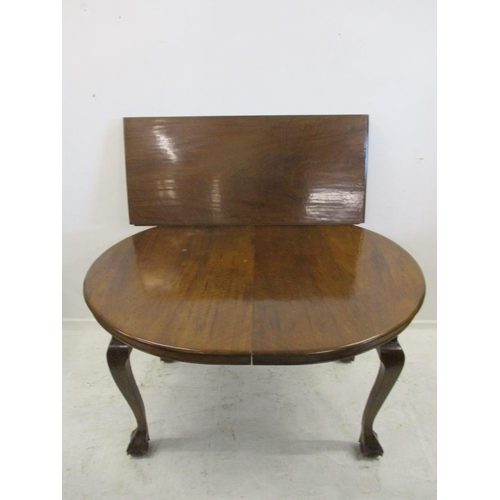 10 - Late C19th Walnut Oval Extending Dining Table on cabriole carved ball & claw supports with additiona...
