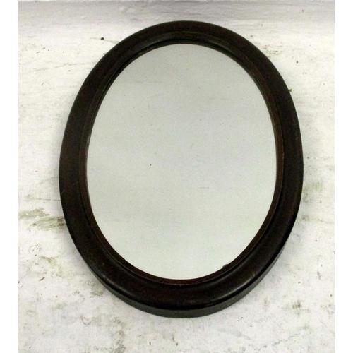15 - Victorian Oval Mahogany Framed Wall Mirror...