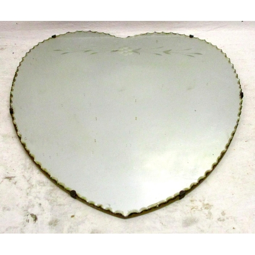 25A - Heart Shaped Unframed Wall Mirror...