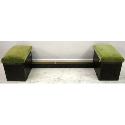 23A - Textured Copper Clad Club Fender with 2 upholstered Box Ends with Corinthian column style decoration...