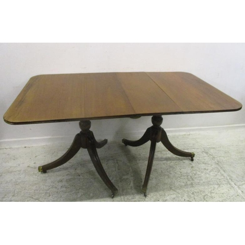 Terrific Georgian Style Twin Mahogany Dining Table With D Ends Uwap Interior Chair Design Uwaporg