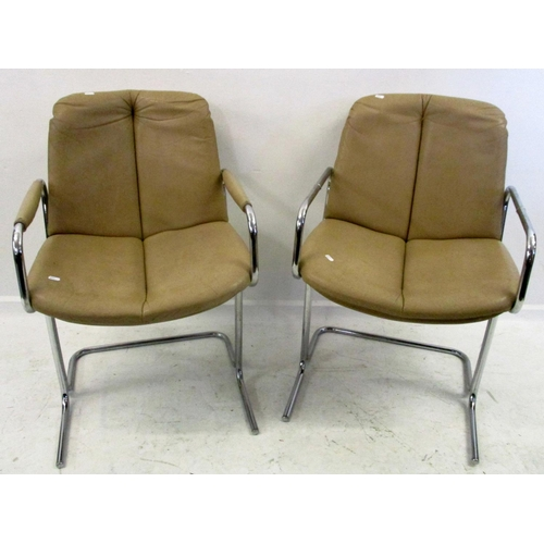 17A - Pair Designer Style Chrome Side Chairs (2)...
