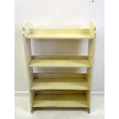 18A - Painted Wooden Open Shelving with small upstands...