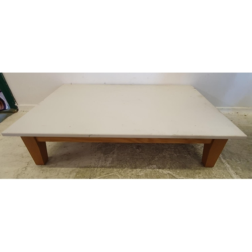 9 - Modern Large Oak Coffee Table with white painted top A10/11...
