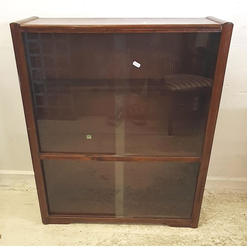 44 - Bookcase with glass sliding doors (A1)...