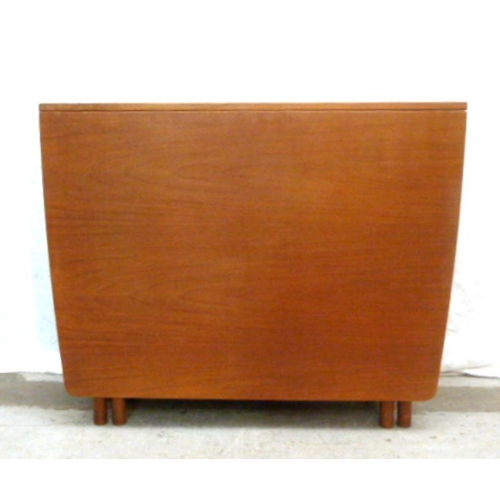 19 - Retro Teak Drop Flap Table labelled A McIntosh & Co. Kirkcaldy Scotland (A6/7B)...