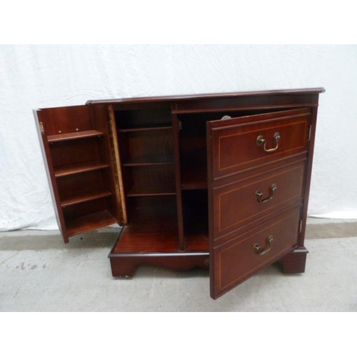 5 - Reproduction Mahogany Side Cabinet with fall & pair doors (A8)...