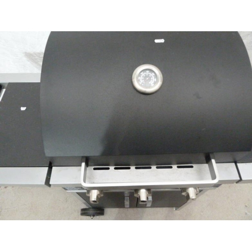 9 - Gas Barbeque with central grill, enamelled interior (BW)...