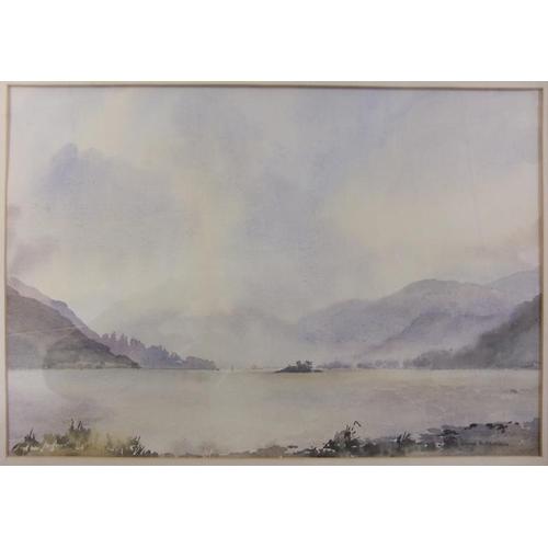65 - F/g Watercolour 'Ullswater Cumbria' signed David Harrison, approx. 20 1/2