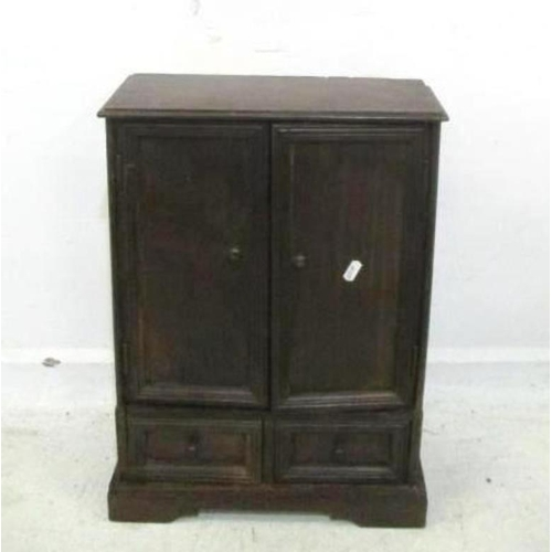 20A - Miniature Wardrobe with pair doors & 2 drawers under, on bracket supports (A1)...