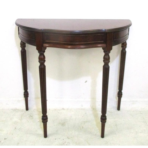 2A - Reproduction Mahogany Hall Table on tall turned supports (A7)...