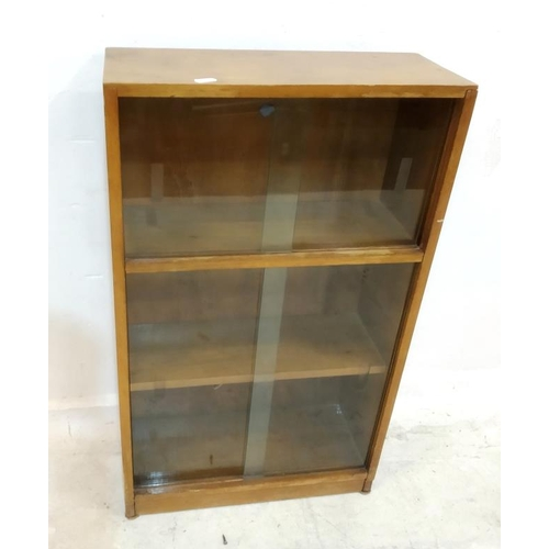 9A - Retro Bookcase with 2 pairs glass sliding doors, fixed shelves (A1)...