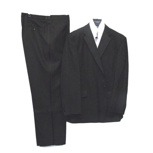 54 - Mens Berwin & Berwin Black Wool Dress Suit, jacket 48