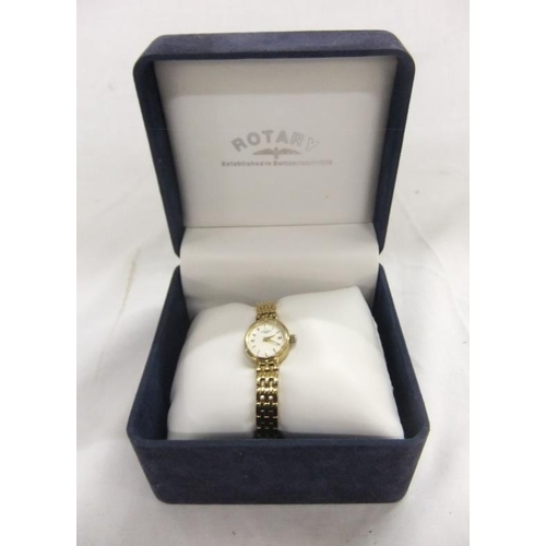45 - Ladies Rotary Wristwatch with spare links, warranty, instruction booklet etc. in original display bo...