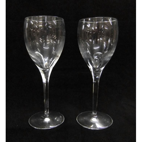 51 - Pair Waterford Oversized Red Wine Glasses, each approx. 9 1/2
