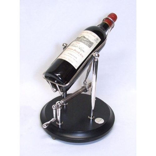 10 - Silver Plated Decanting Cradle on circular base (CABINET 6)...