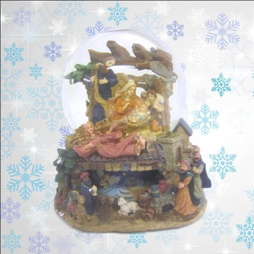 1 - Collectors Edition Christmas Musical Water Globe with nativity scene, as new in box (CABINET 11)...
