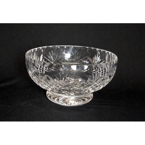 17 - Circular Cut Crystal Fruit Bowl, approx. 8