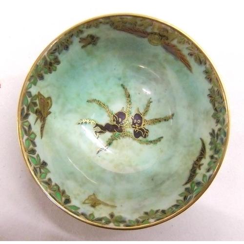 145 - Wedgwood Fairyland Z4968 Lustre Art Deco Bowl Daisy Makeig Jones 1920s approx. 3 3/4