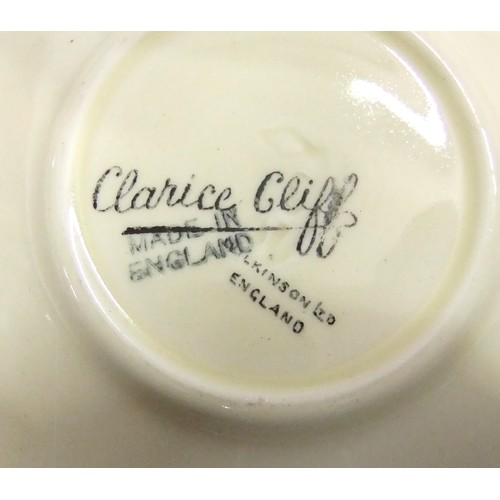 141 - 2 Clarice Cliff Wilkinson Crocus Pattern Coffee Cans & Saucers...