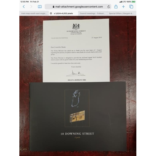 29 - Signed Boris Johnson No 10 Brochure and authentication letter. Framed. Donated by Boris Johnson PM...