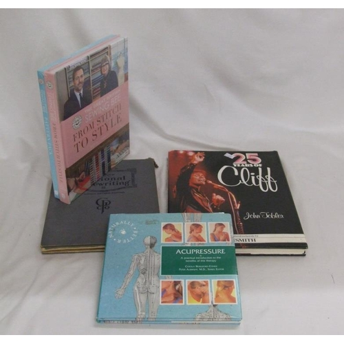 1107 - Books: 2 Vols. The Great British Sewing Bee 'From Stitch To Style' & 'Pattern Pack' as new, Acupress...