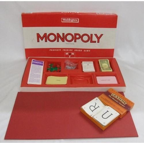 814 - Waddingtons Monopoly & Lexicon Card Game...