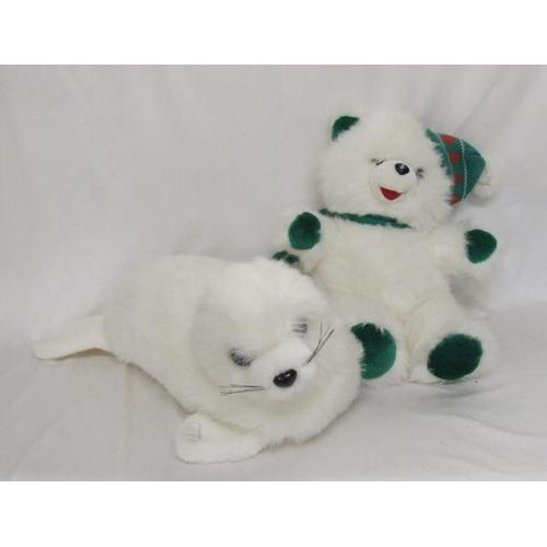 804 - Soft Toy Baby Seal & Teddy Bear (2)...